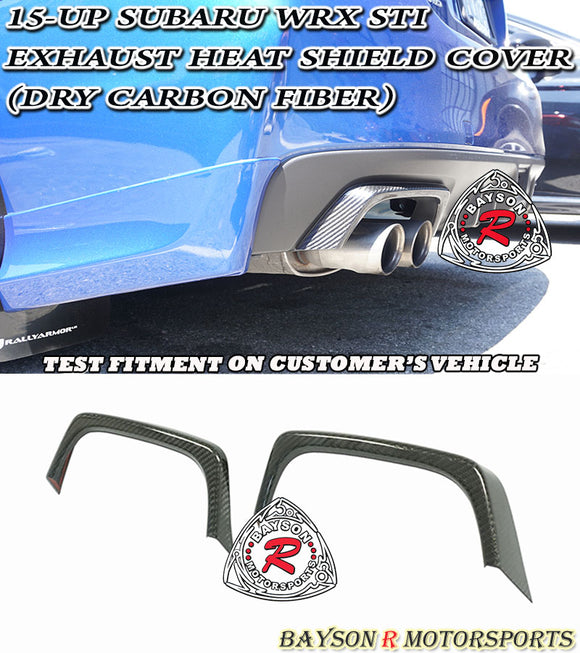 Carbon Fiber Exhaust Heat Shield Cover 2015-2020 Subaru WRX STi - Bayson R Motorsports