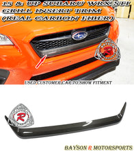 Load image into Gallery viewer, 15-17 Subaru WRX STI Grill Insert Trim (Carbon Fiber)