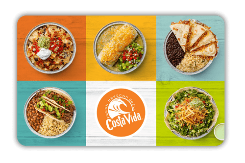 Costa Vida Gift Card - $USD