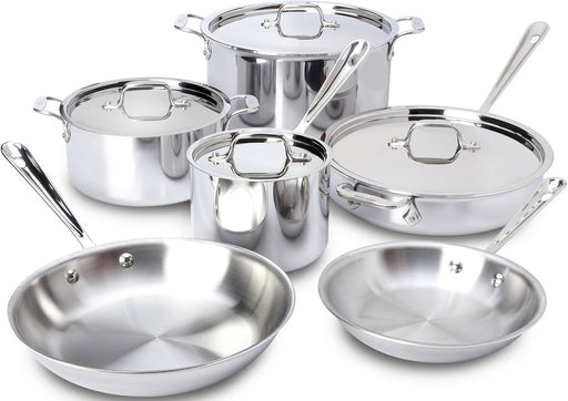 All-Clad 401877R Stainless Steel Cookware Set, 10-Piece- 8400000960