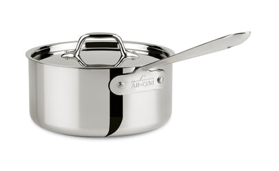 All-Clad 4203 Stainless Steel Sauce Pan with Lid, 3-Quart- 8701004398