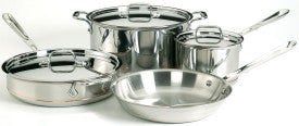 All-Clad Copper Core 7 pc Cookware Set