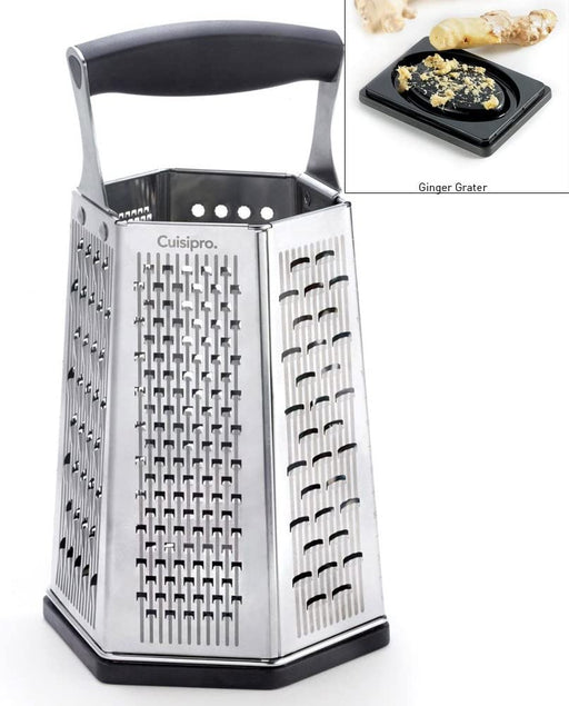 Cuisipro 6 Sided Box Grater, with Ginger Grater