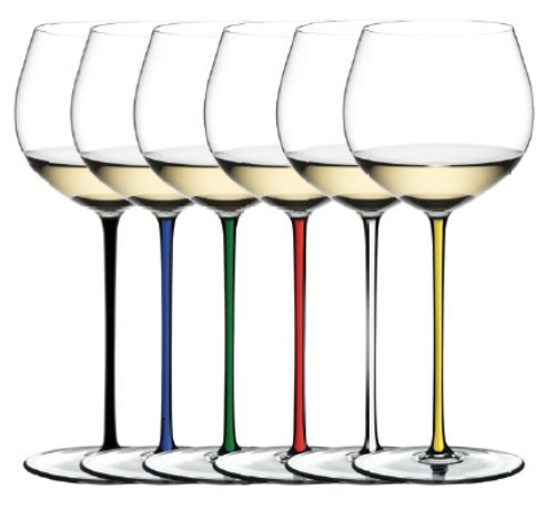 Riedel Fatto a Mano Oaked Chardonnay Glass Assorted Set of 6