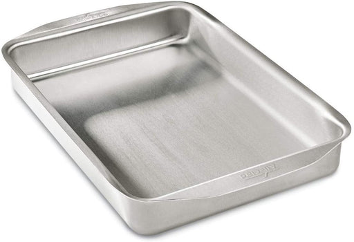 All-Clad D3 Ovenware 9x13 Inch Baking Pan, Stainless Steel, 9 by 13-Inch