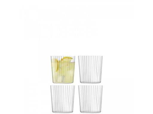 LSA International Gio Line Tumbler, Clear x4 13.2 fl oz.