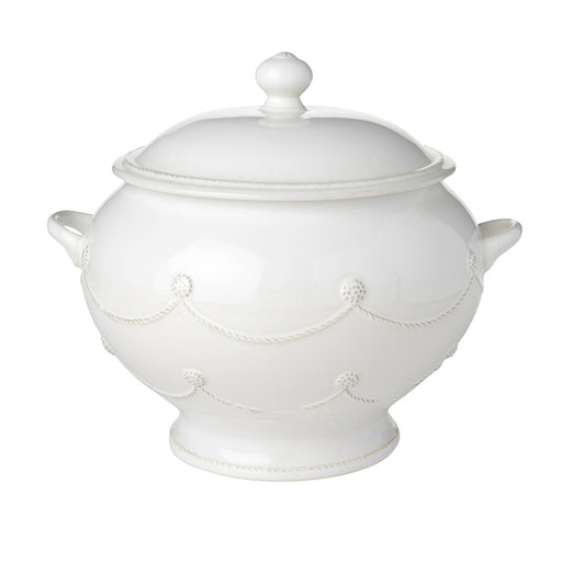 Juliska Berry & Thread 4.5 Quart Whitewash Soup Tureen, 4.5 Quart