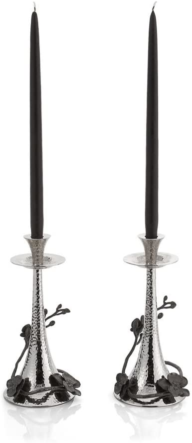 Michael Aram Black Orchid Tapered Candlesticks S/2