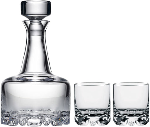Orrefors Erik 3 Piece Set, Decanter and 2 Double Old Fashioned Glasses