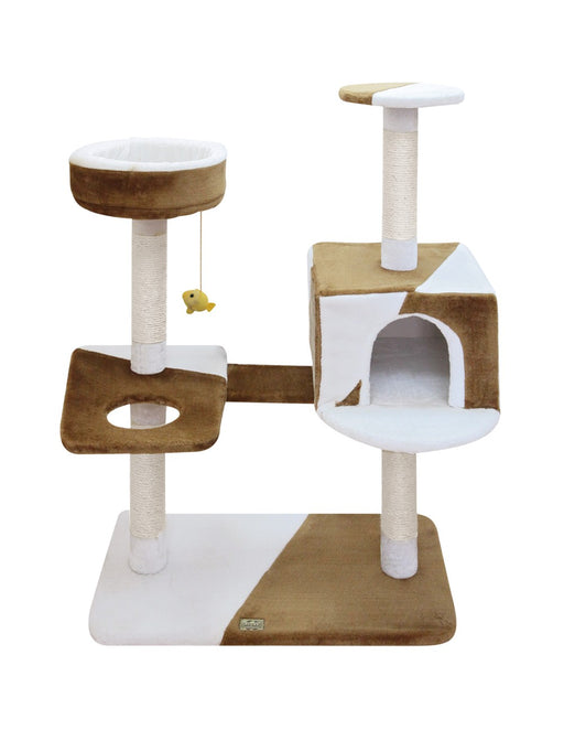 CAMILA CAT POLE - BROWN-WHITE