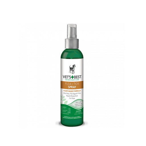 Vets Best Natural Flea & Tick Spray (8Oz)