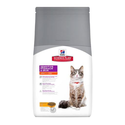 Hills Science Plan Feline Adult Sensitive Stomach & Skin w/ Chicken