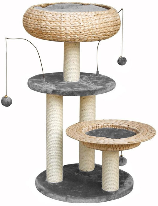 LORENZ CAT PLAY TOWER - GREY