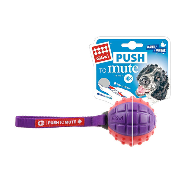 "Regular Ball ""Push To Mute"" solid red/purple"