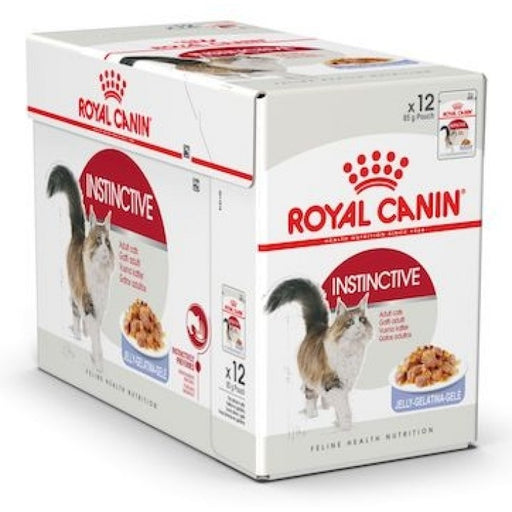 Royal Canin Wet Food - Instinctive For Adult Cats -Jelly (12 X 85G Pouches)