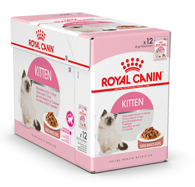 Royal Canin Wet Food - Kitten With Gravy (12 X 85G Pouches)