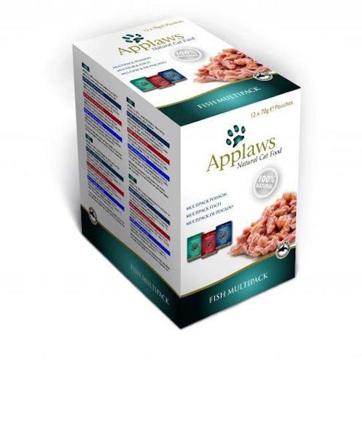 Applaws Cat Fish Multipack 12 X 70G Pouch (Multipack Fish Selection)