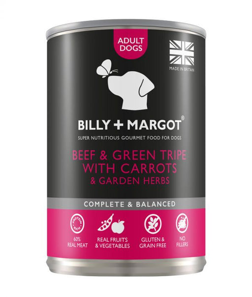 Billy & Margot Beef and Green Tripe Canned Adult Dog Food