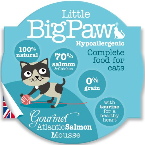 Little Big Paw Cat Gourmet Salmon Mousse