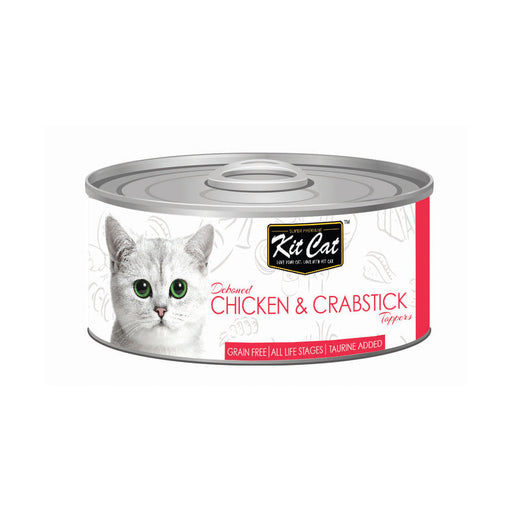 Kit-Cat Tin- Chicken & Crabstick Toppers