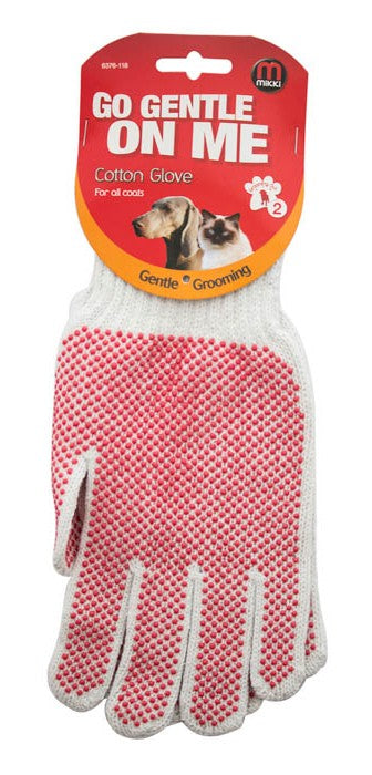 Cotton Grooming Glove for all coats - MIKKI