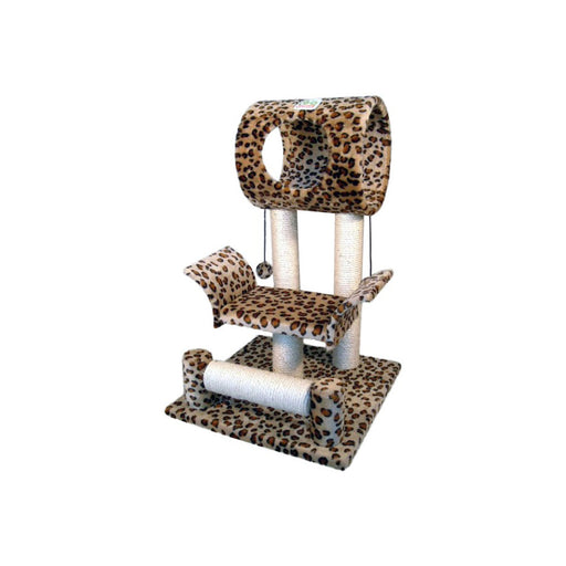 Faux Fur Cat Tree SIZE 46W X 45L X 71H