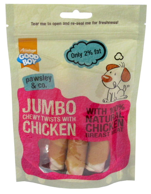 Armitage Jumbo Chicken Chewy Twists - 100G