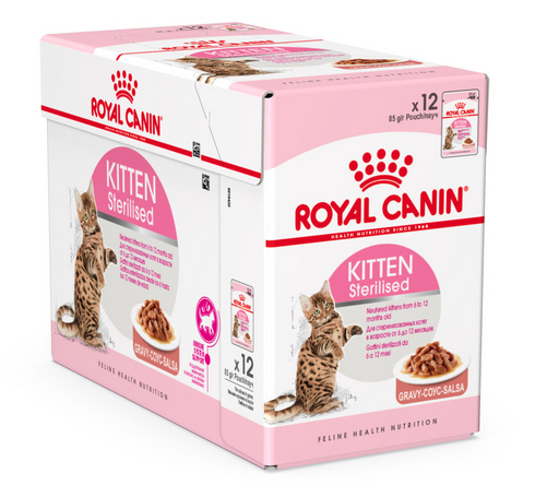 Royal Canin Wet Food - Kitten Sterilised (12 X 85G Pouches)