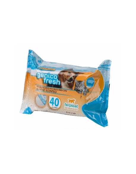 Ferplast Genico Fresh Wipes - Marine Scented