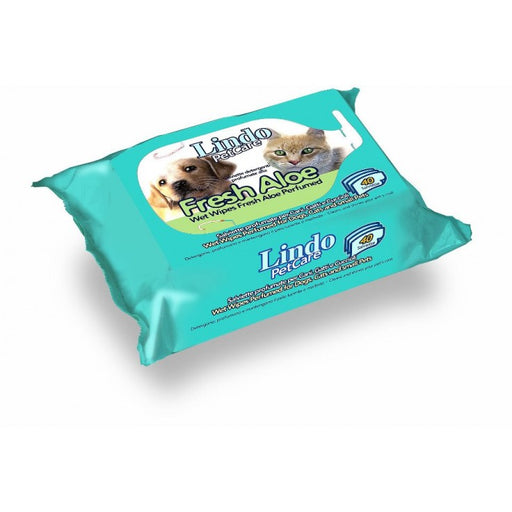 Lindocat Pet Wipes Fresh Aloe Perfumed