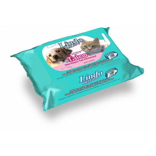Lindocat Pet Wipes Talc Perfumed