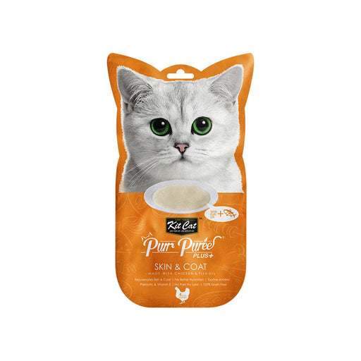 Kit-Cat Puree Plus Skin & Coat - Chicken & Fish Oil