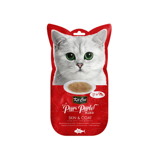 Kit-Cat Puree Plus Skin & Coat - Tuna & Fish Oil