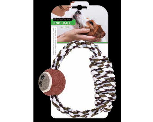 Dog Rope Ring With Tennis Ball
