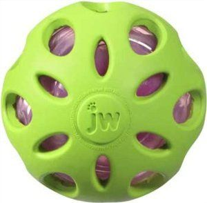 JW Rubber Ball with Crunchy