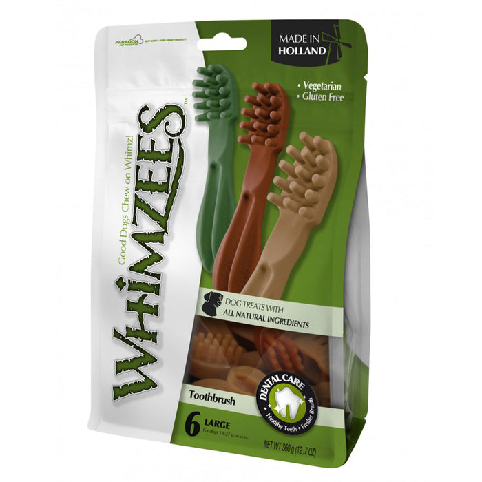Whimzees Toothbrush Star L Mix Brown/Green/Orange