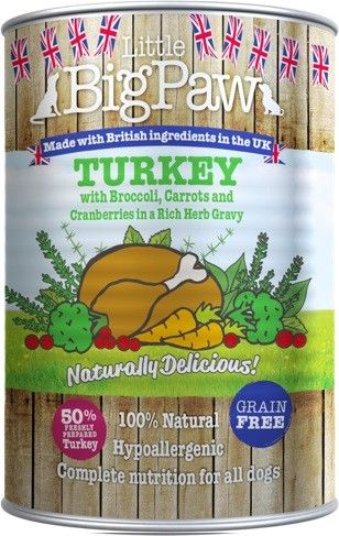 Little Big Paw Dog Turkey Tin