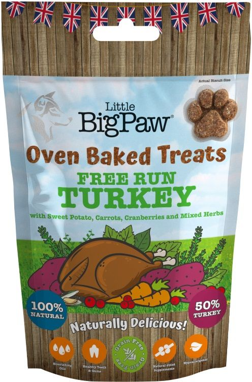 Little Big Paw Oven Baked Turkey Treats For Dog
