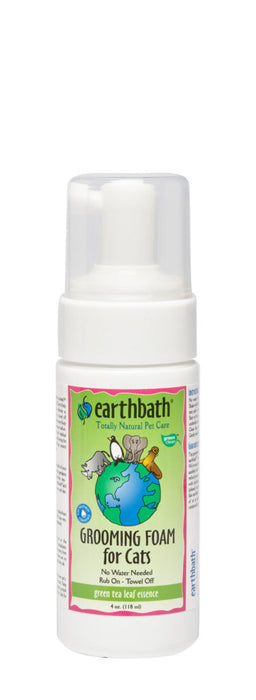 EarthBath Waterless Grooming Foam For Cats & Kittens , Hypoallergenic & Fragrance Free