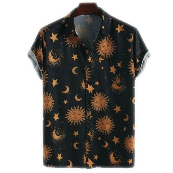 Sun and Stars Short Sleeve Shirt