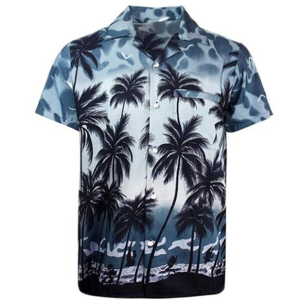 Coconut Beach Print Shirt