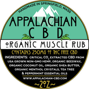 Organic Muscle Rub, 250mg Broad Spectrum, 2 oz. roll on