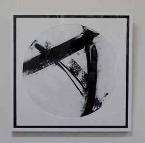 Abstract black and white framed print