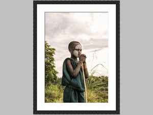 """To Ponder"" Open edition Cotton Rag print in black grain frame"