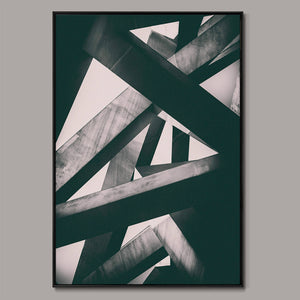 Concrete pillars Framed Canvas