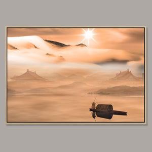Sunrise journey Framed Canvas