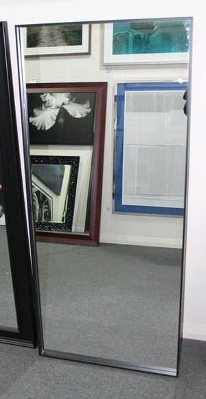 slim frame, tall mirror - leaning mirror
