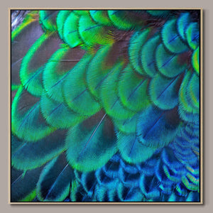 Blue and green harmony Framed Canvas