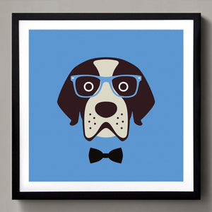 Gentlemen dog with specs