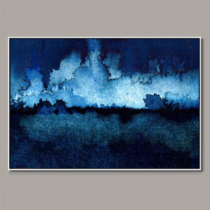 Blue Storm Framed Canvas